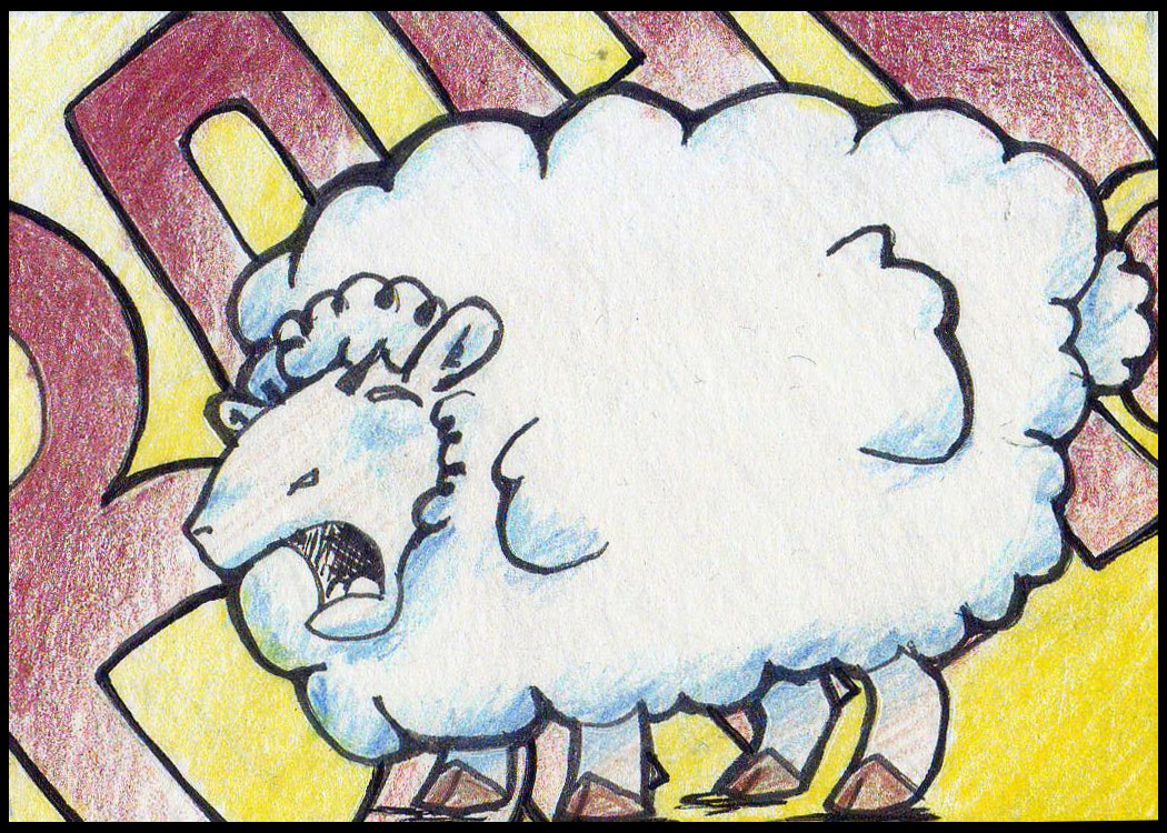 Angry Sheep Yelling BAAAA!